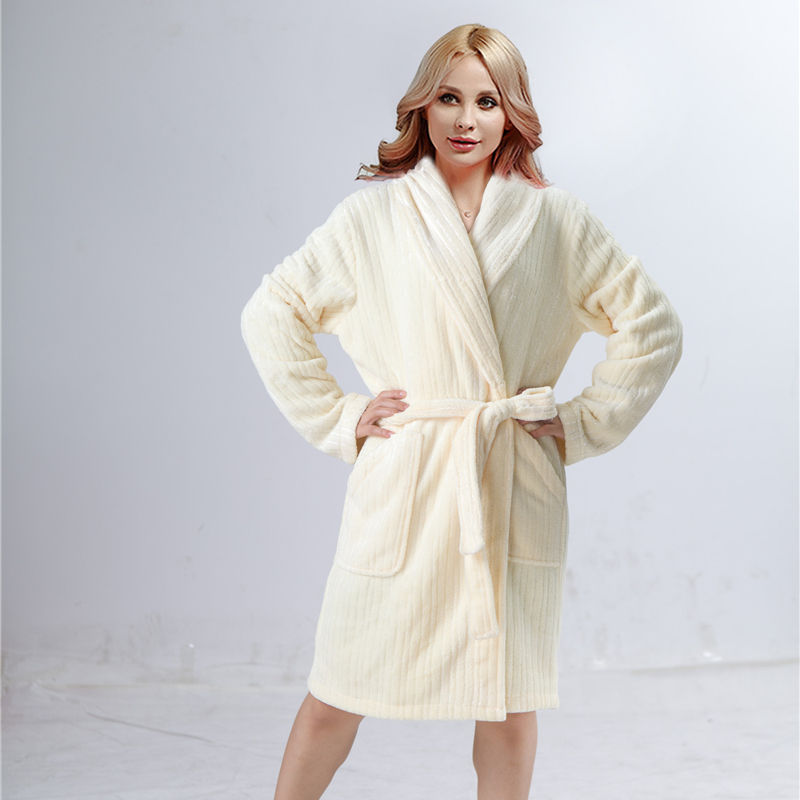 OEM high quality Sexy Flannel Shawl Collar bath robe