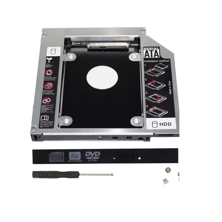 Di alluminio 9.0/9.5/12.7mm 2.5 pollici 2nd Hard Drive Disk <span class=keywords><strong>Caddy</strong></span> SATA3.0 SSD Staffa adattatore secondo <span class=keywords><strong>hdd</strong></span> <span class=keywords><strong>caddy</strong></span> del computer portatile
