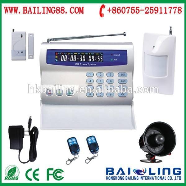 Negocio en casa uso de la industria de sistema de <span class=keywords><strong>alarma</strong></span> GSM con pantalla LED de sistema de <span class=keywords><strong>alarma</strong></span> de seguridad BL2000