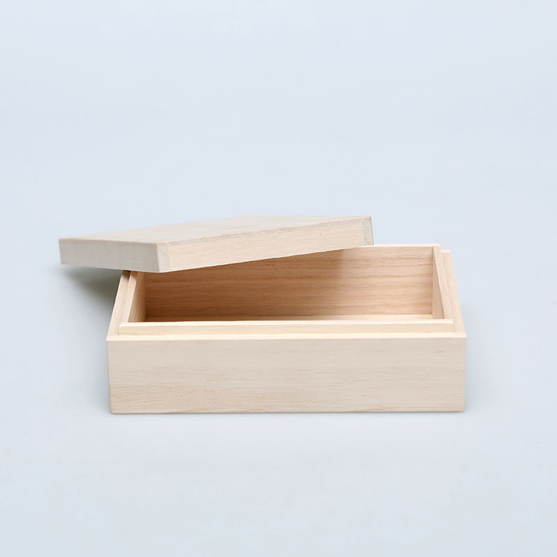 China Paotong Wooden Box For Packaging Items With FSC Paulownia Wooden Box