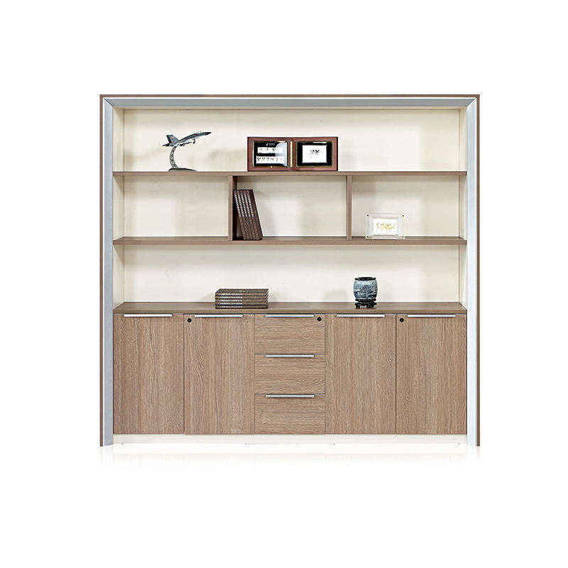 Frank Tech wooden document cabinet office home use storage bookcase combination lock filing cabinet