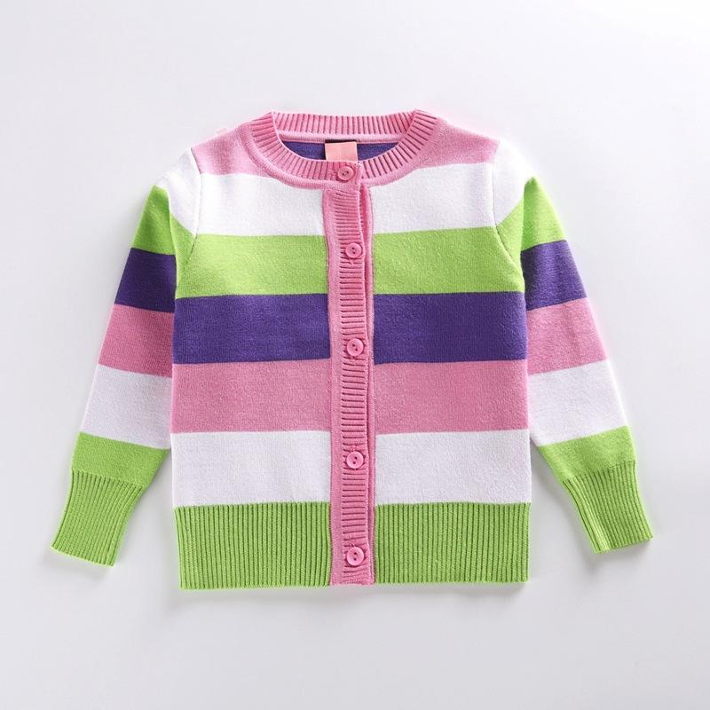 Wholesale Neck New Design Girls India Stripe Cashmere Cashmere Tops Sweater