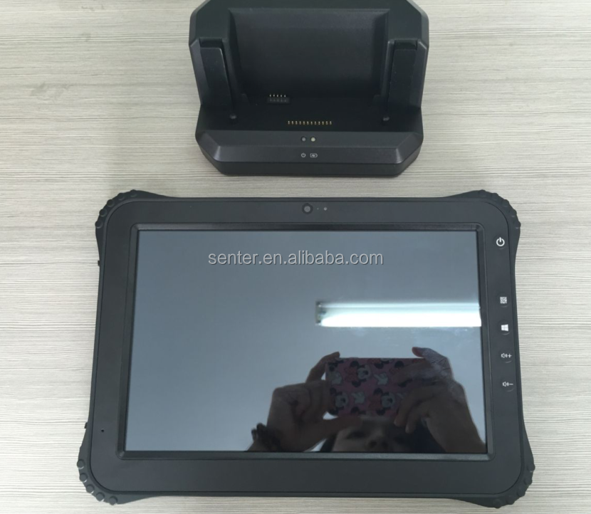 ST935 Tough pad Wasserdichte tablet 10,1 zoll RFID Mobilen windows10 Tablet mid X86 USB HDMIoutput Docking Station