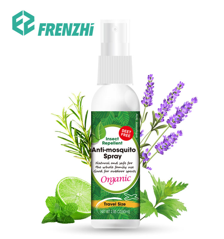 Deet Free Bug Guard Organic Baby Oil 60ml 100ml Natural Bug Spray Mosquito Repellant Spray FZ04