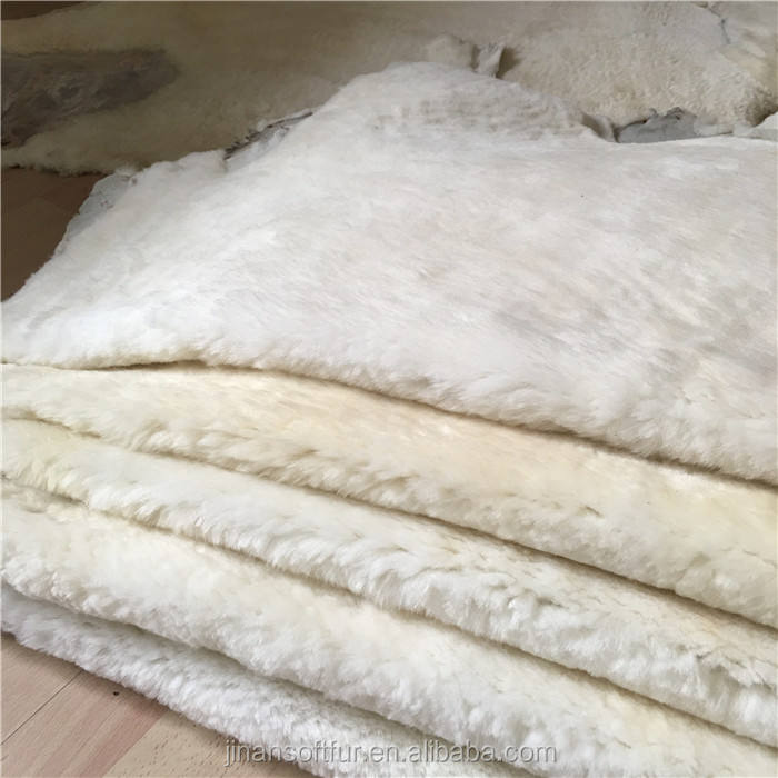 Natural Fur 100% Sheepskin Lining Raw Sheep skin hides