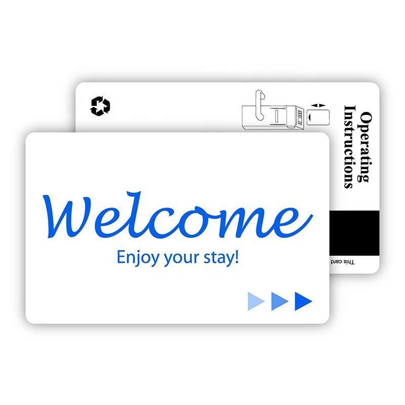 Acceso de alta calidad 125 khz tk4100 inteligente rfid tarjeta llave de hotel