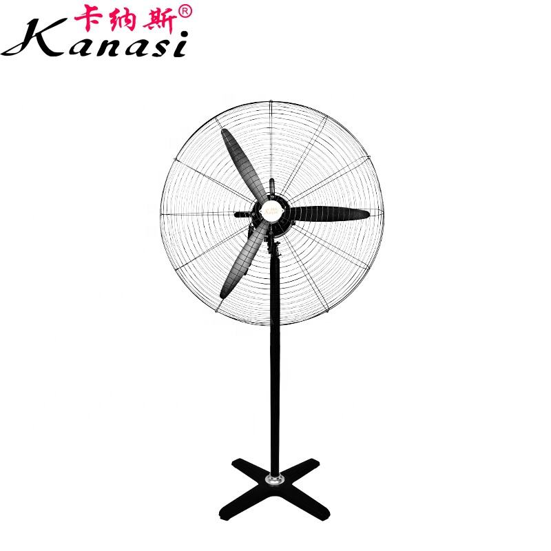 "Kanasi 500 650 750 mm 20 26 30 "" Inch OEM Ox Electric Industrial Pedestal Stand Fan With Plastic Blade"