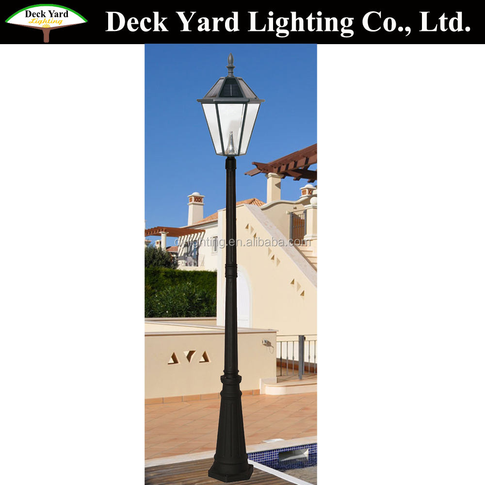 Outdoor Led Solar Garden Lighting Garden Pole Lights Lamp Post