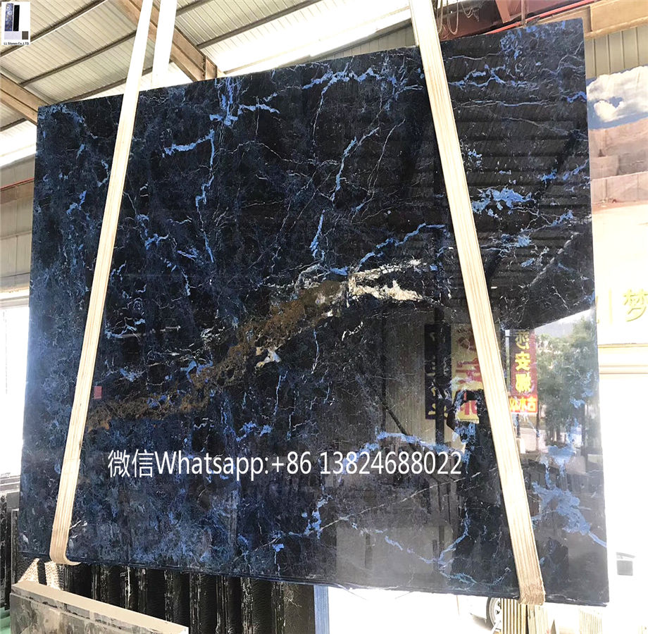 Blue marble stone onyx and granite luxurious blue dark marble slab wholesale good price