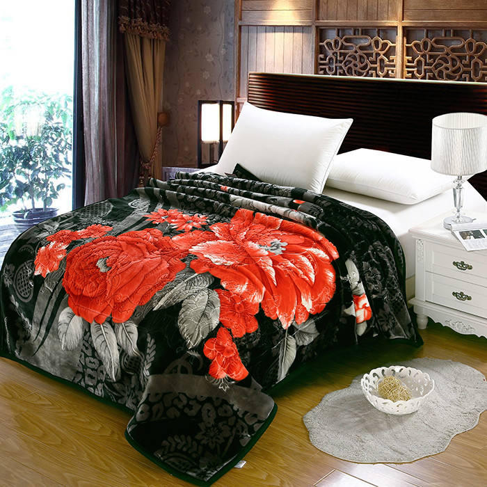 True love 100% polyester best price king size home textile double bed blanket