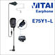 VITAI E75Y1-L Single Side Handset for Walkie Talkie Noise Cancelling Two Way Radio Earphone