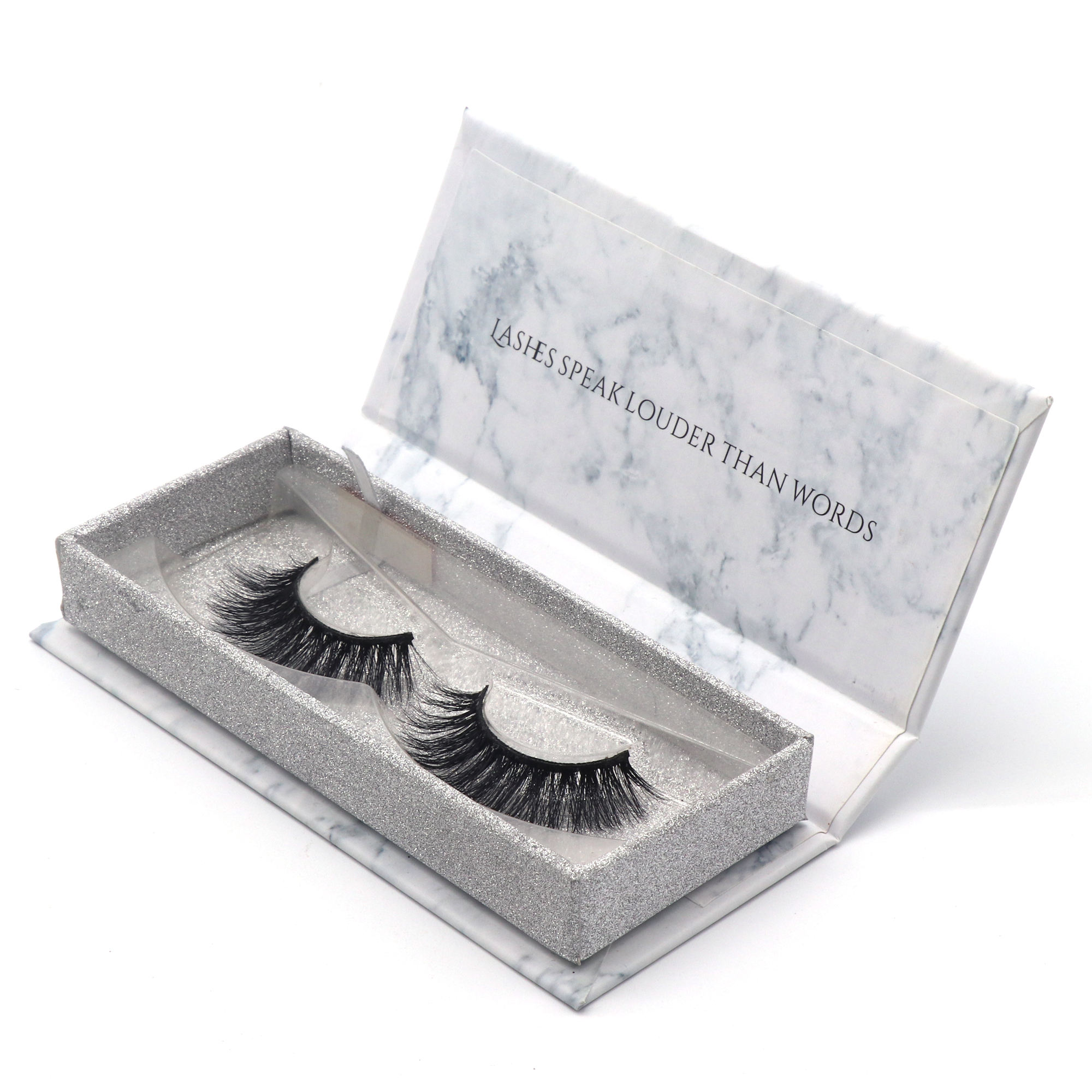 2018 New styles custom packaging 3d mink lashes strip eyelashes