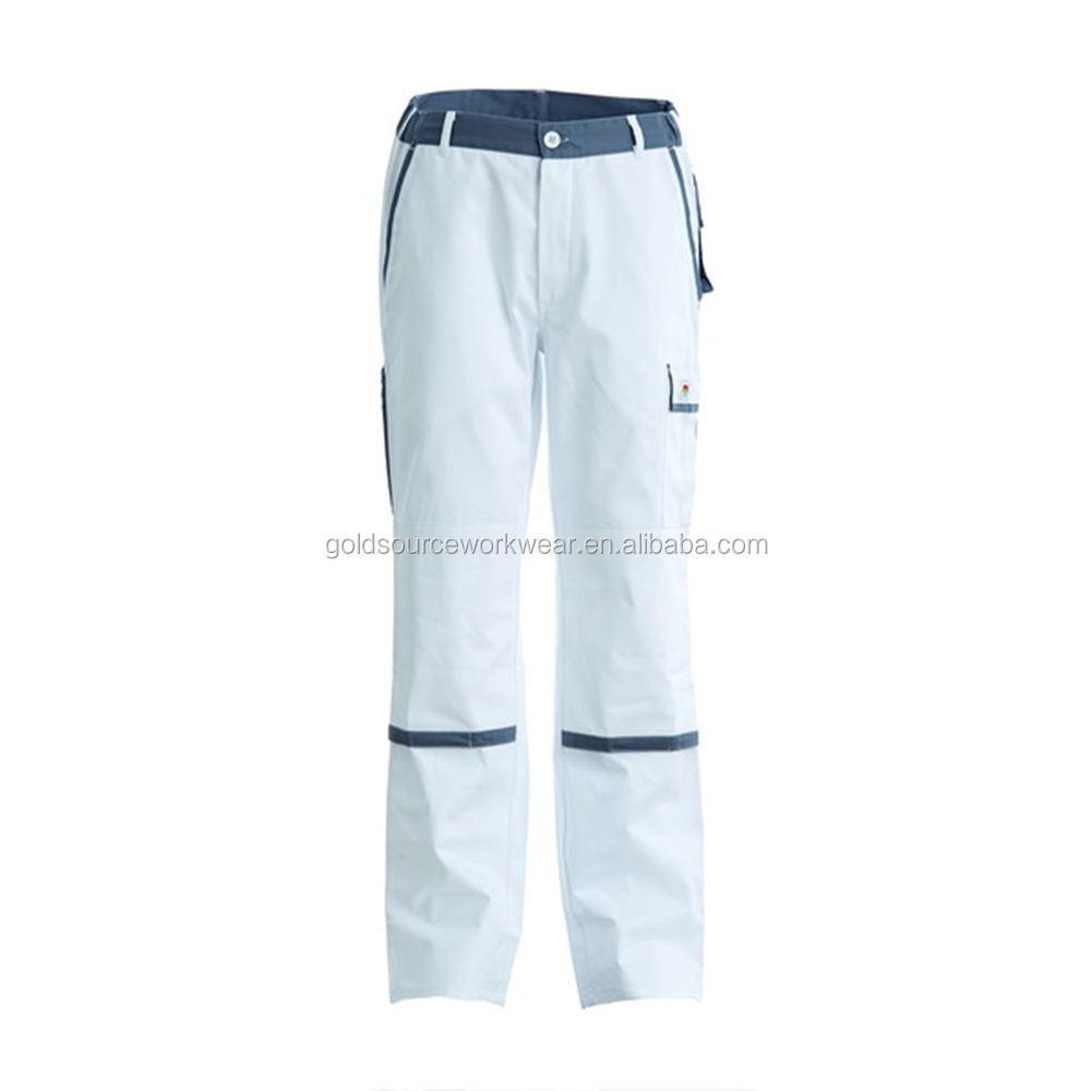 Wholesale Relaxed Straight White Painter Men Wear Work Pants