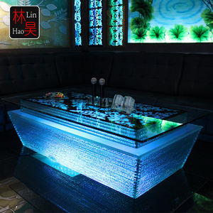 Meubles de pub de luxe ktv café dj snack led changeant de couleur barre lumineuse table de cocktail