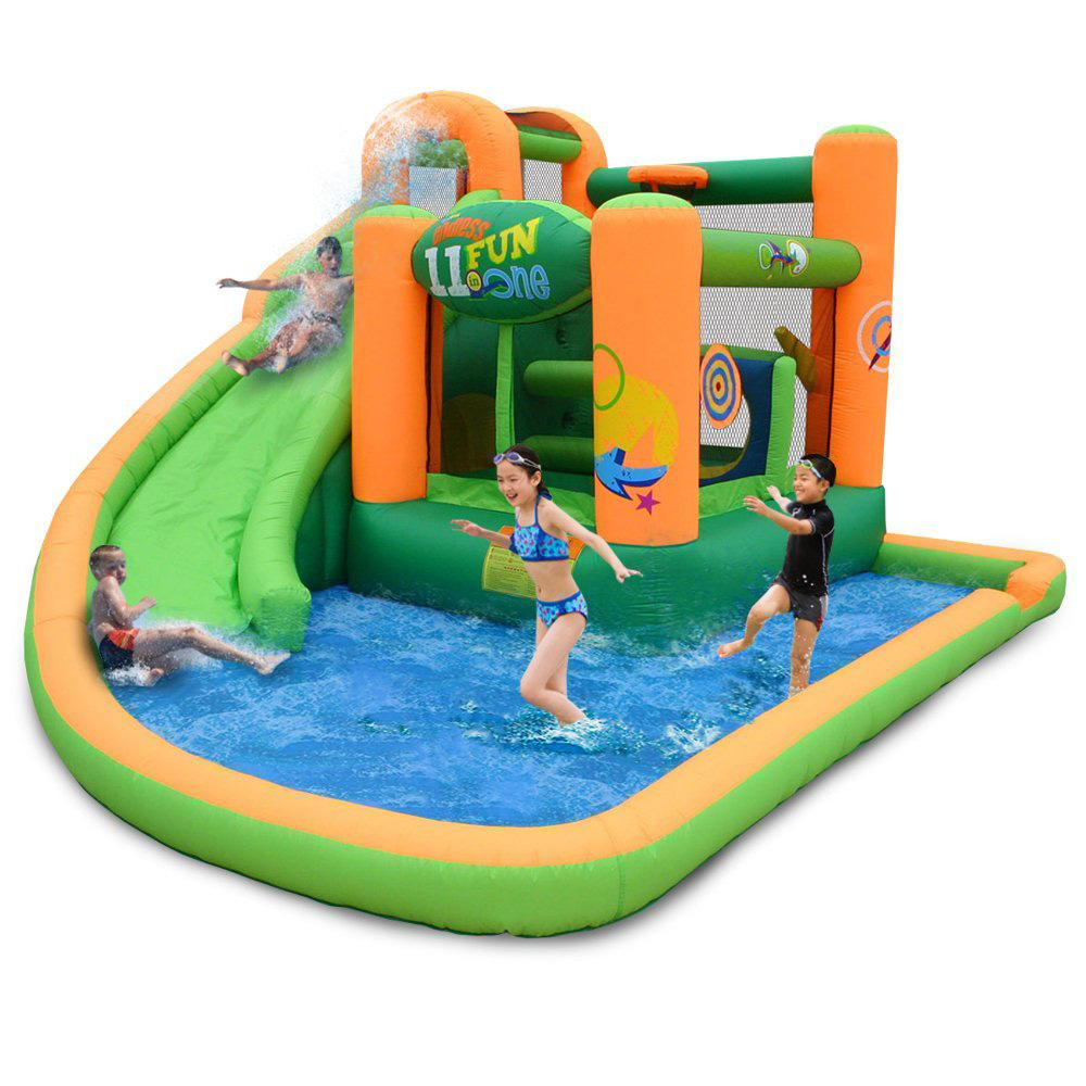 Children Princess Jumper Inflatable Water Slide Bouncy Castle Combo Inflatable Bouncer With Water Slide Pool