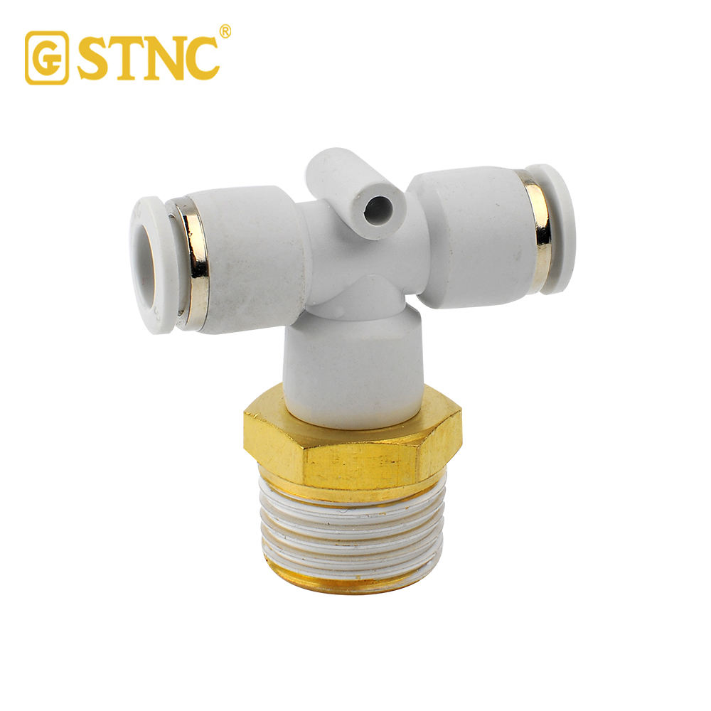 YPB10-04 Wholesale T shape threaded pipe fittings air quick couplers