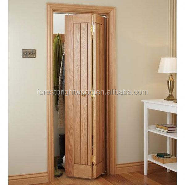 Bifold Carved Wooden Door with Grooves