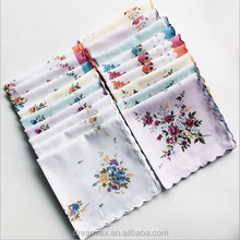 women girl Lady Floral flower Printed Cotton Handkerchief wholesale