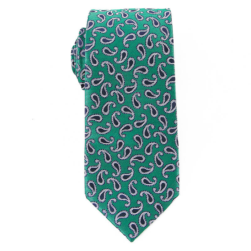 Dropship Ties Mens Green Paisley Woven Microfiber Tie Neckties with Gift Box In China