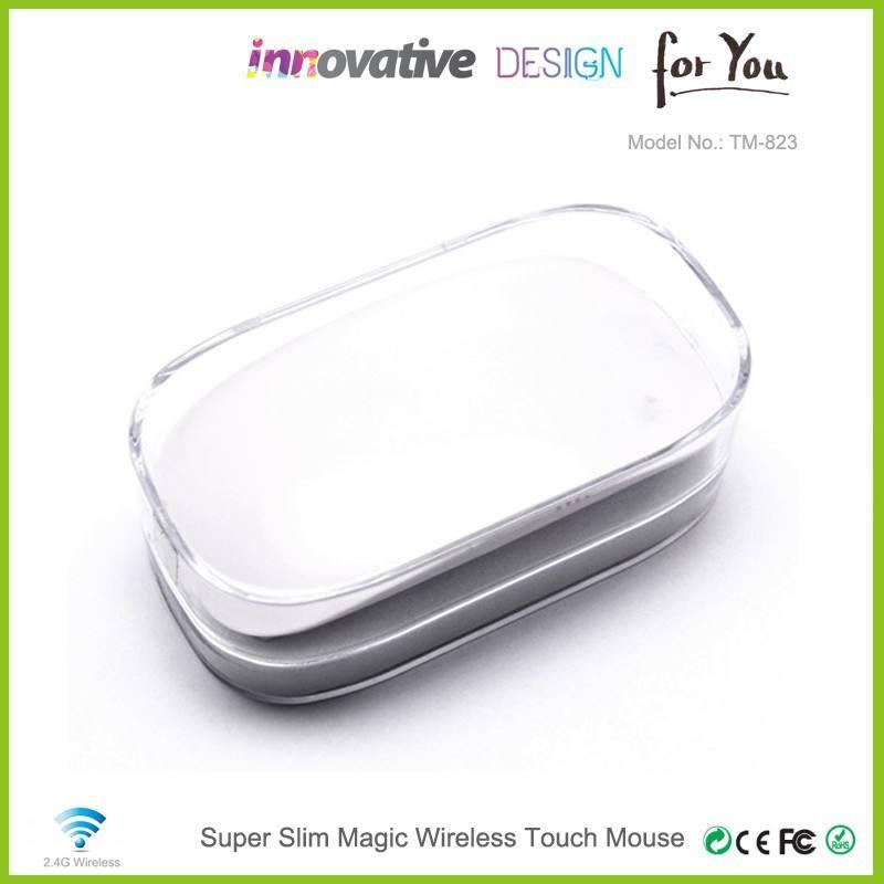 ギフトアイテムusbマウスワイヤレスタッチ/最新のコンピュータのアップルipad用空気フラットマウス