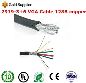 ROHS U L 2919-3 6 VGA CABLE 3C 6 Coaxial cable 28AWG copper 150m/roll