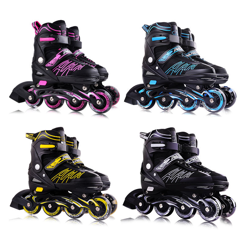 Wholesale roller skates with CE report export to USA can sale inline skate on Amazon with pink red black blue color have XL size