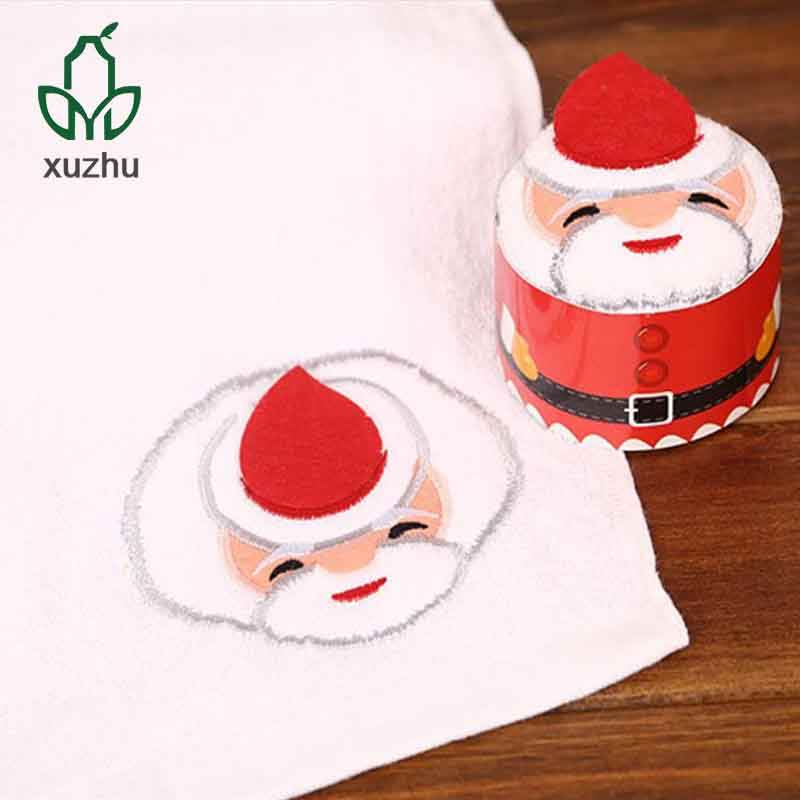 Cakes white hand towel 100% cotton face towel christmas gift set
