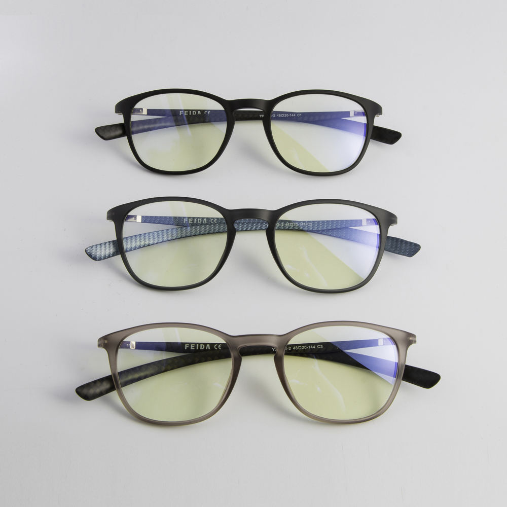 YX0284-2 TR90 Carbon Fiber Blue 빛 Glasses UV400 방사선 보호 Eyewear Men Women 안티 Blue 선 Glasses 컴퓨터