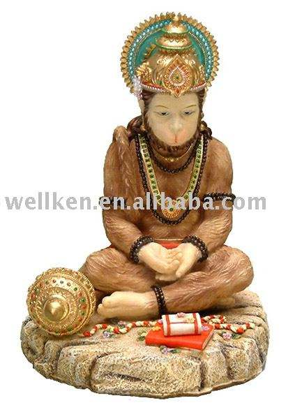 polyresin indian god Hanuman
