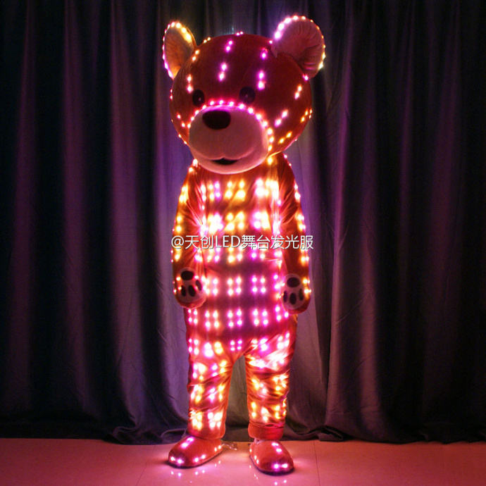 Inflatable LED Cartoon Bear Costume, Teddy Bear Costumes with LED