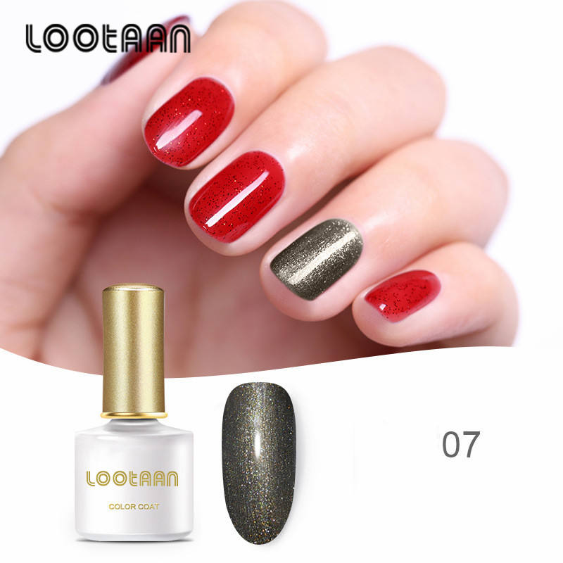 Nail Flash Powder Glass Gum colored nail Polish Bright Plate Phototherapy Nail Gel