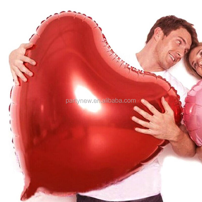 Valentine's day 75cm/30 inch Large size heart shaped pure color foil balloon 7 colors available