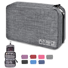 Waterproof Cosmetic Makeup Bag Bathroom Shower Kit,  Men and Women Hanging Travel Toiletry Organizer Bag