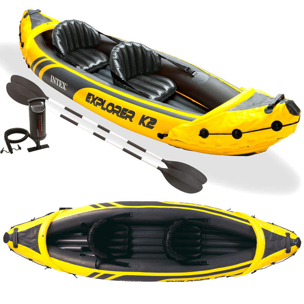 INTEX explorer 68307 2 person fishing inflatable kayak canoe for sale