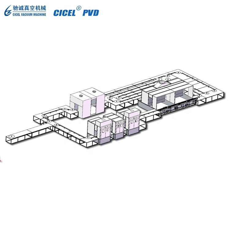 Automatic UV spraying curing line / UV vacuum metallizing machine / UV varnish painting line