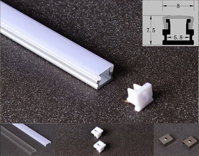 China de curva LED Flexible de perfil de aluminio para tiras Led