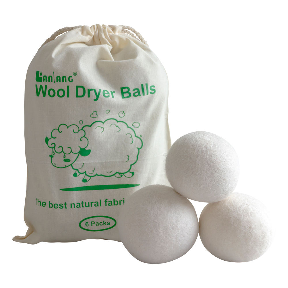 new 2019 trending product hand made wool dryer balls 6 pcs for sweater dryer