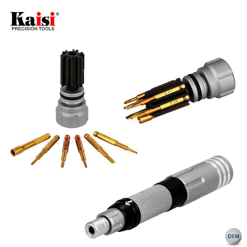 Kaisi Portable Pocket Screwdriver Precision 6 in 1 Torx Screwdriver Bit Set For iPhone Cell Phone Repair