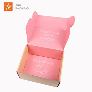 Folding corrugated packaging gift box product shipping mailer paper box