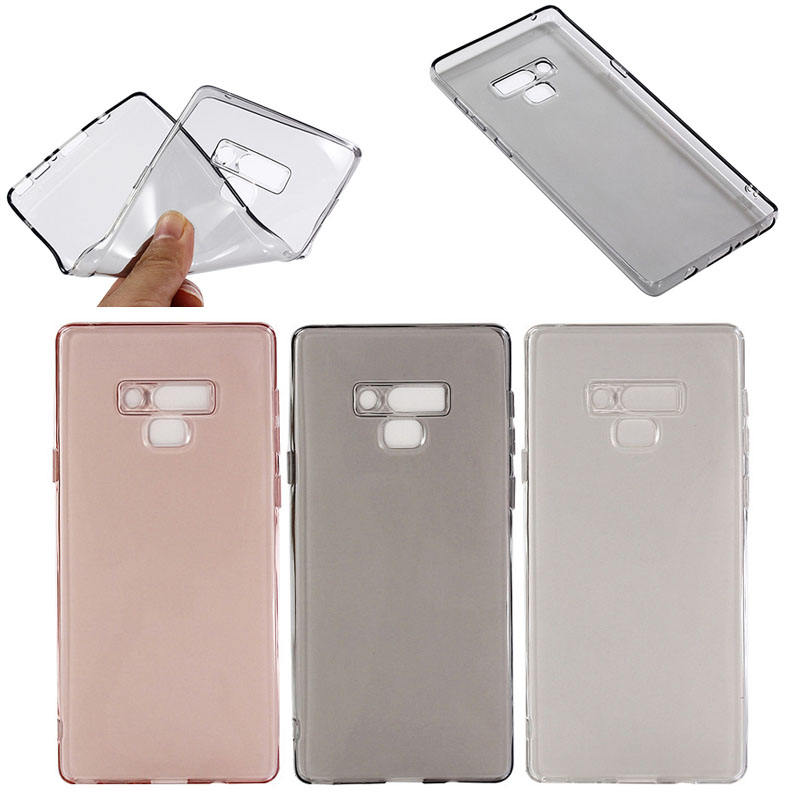 Shockproof clear soft TPU case cover for samsung note 9 back cover case