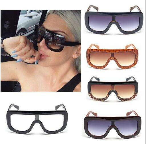Fashion Womens Sunglasses One Piece Lens Retro Cat Eye Eyewear