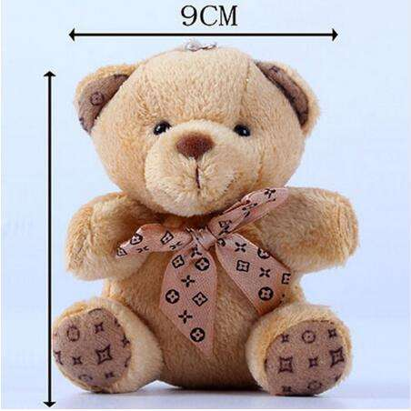 free sample plush teddy bear keychain/small plush teddy bear keychains/stuffed bear keyring