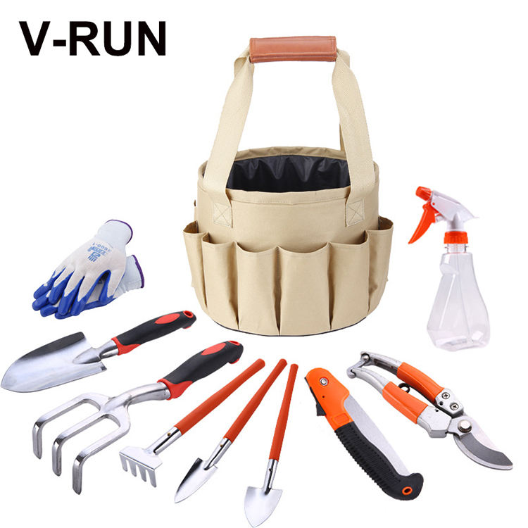 Good quality 10Pcs aluminium Garden Tool Sets with gift bag women garden hand tool set