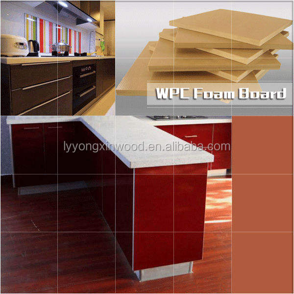 WPC new material anti-fire latest building materials, can replace plywood 1220*2440mm