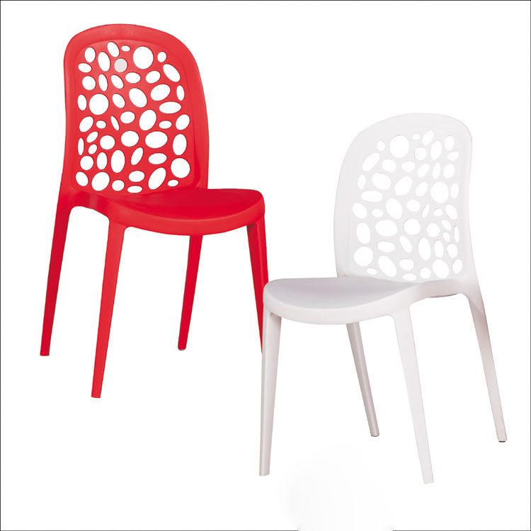 hot sale modern plastic solid dining chair wire strong heavy duty plastic chairs