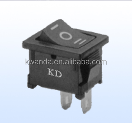 ROUND Rocker Switch 6.5A 240V BLUE ON-OFF Double Pole 3 Pin ILLUMINATED