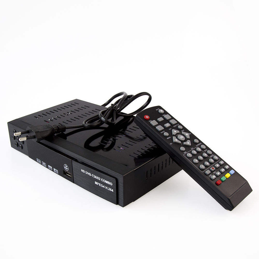 Smart Digital TV Receiver DVB-T2+DVB-S2 FTA 1080P Decoder Tuner MPEG4