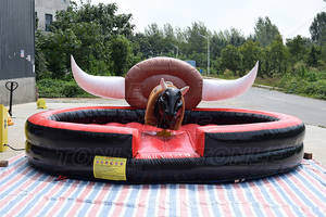 Cheap Electric Inflatable Kids mechanical bull ride / rodeo machine bull for sale