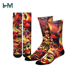 HM-A664 custom sock for dye sublimation printing socks blank man custom sublimate sock custom printer