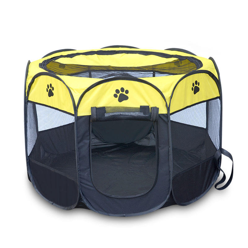 Hot Selling Foldable Camping Kennel Tent Pet Playpen 8 Panel Pet Playpen Folding Cat Playpen